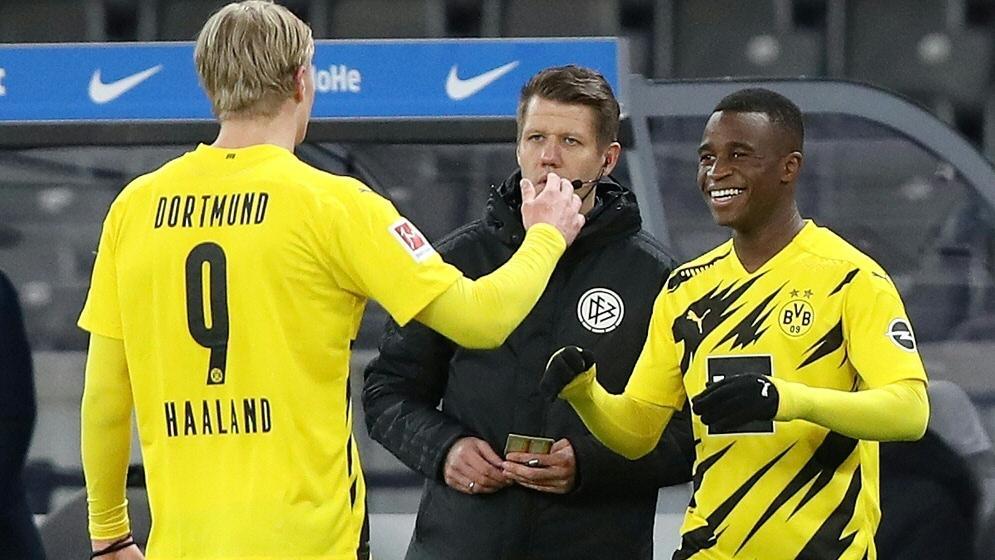 Youssoufa Moukoko ist von BVB-Stürmerstar Haaland begeistert