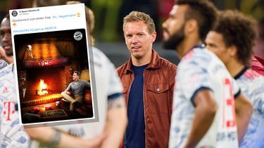 Der FC Bayern bedachte Julian Nagelsmann mit einem Bild auf Twitter