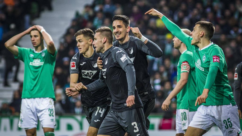Die TSG Hoffenheim ist nach dem Sieg in Bremen Siebter