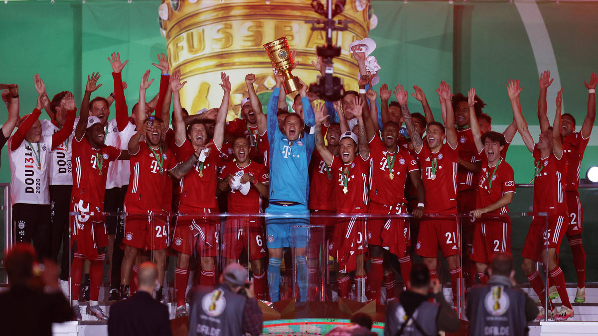 Die Bayern holten überlegen ihren 20. Pokalsieg