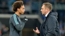 Leroy Sané (l.) spielte auf Schalke unter André Breitenreiter