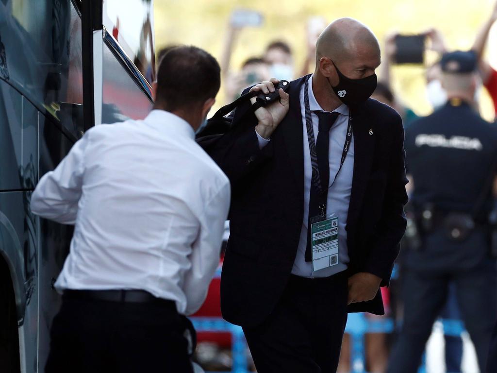Zidane en una imagen de esta misma temporada.