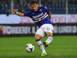 Manolo Gabbiadini, attaccante della Sampdoria