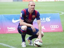 Dmitro Chigrinskiy wird als neuer Barça-Spieler vorgestellt