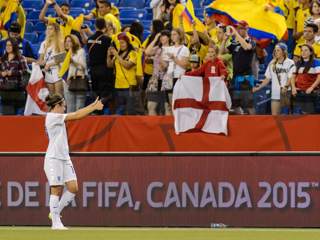 Miles de colombianos llenaron las gradas del estadio Olímpico de Montreal. (Foto: Getty)