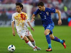 Sime Vrsaljko en el Croacia-España de la Eurocopa de Francia. (Foto: Getty)