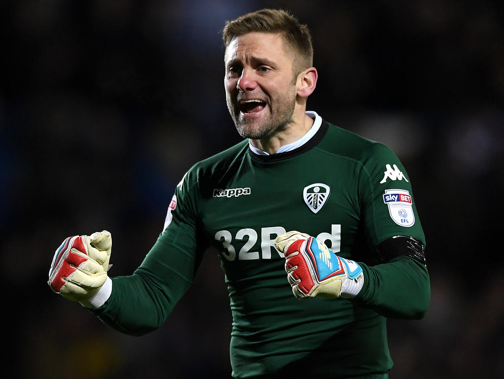 Robert Green con la camiseta del Leeds United. (Foto  Getty) f621b15745b95