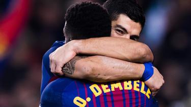 Seit 2017 spielen Dembélé und Suárez zusammen beim FC Barcelona