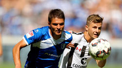 Aleksandar Ignjovski (l.) kann dem 1. FC Magdeburg vorerst nicht helfen