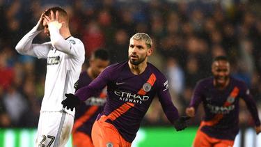 Sergio Agüero traf doppelt für Manchester City