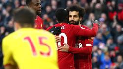 Mohamed Salah erzielte beide Treffer für den FC Liverpool