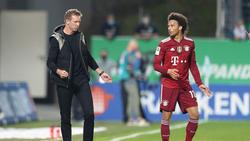 Julian Nagelsmann und Leroy Sané wollen mit dem FC Bayern Titel gewinnen