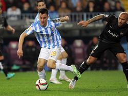 Juanpi seguirá jugando en La Rosaleda hasta junio de 2020. (Foto: Imago)