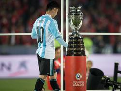 Nach dem verlorenen WM-Finale ging Lionel Messi auch bei der Copa leer aus