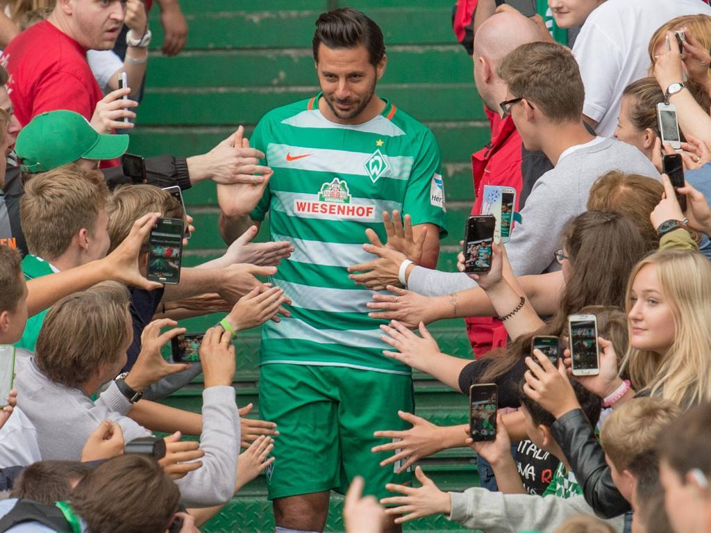 In Bremen ist Pizarro seit jeher ein gefeierter Star