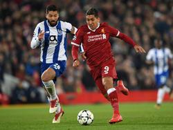 Roberto Firmino (r.) und der FC Liverpool stehen im Viertelfinale