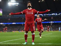 Salah celebra un tanto con el Liverpool esta temporada. (Foto: Getty)