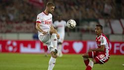 Lasse Sobiech fehlt dem 1. FC Köln auf unbestimmte Zeit