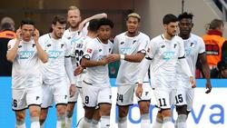 Die TSG 1899 Hoffenheim feierte ihren Sieg gegen Bayer Leverkusen