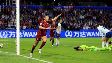 Jodie Taylor erzielte das Tor des Abends für England