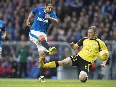 Niko Kranjčar (l.) und die Rangers waren nicht vom Glück begünstigt