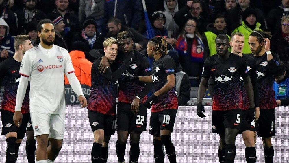 RB Leipzig und Olympique Lyon trennen sich 2:2