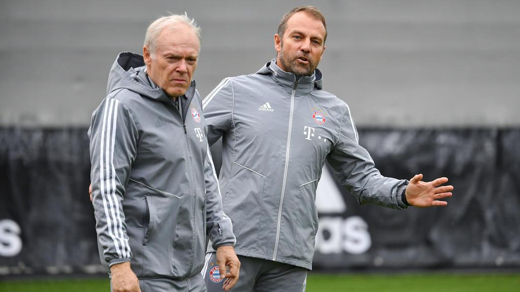 Hermann Gerland (l.) arbeitete beim FC Bayern mit Hansi Flick (r.) zusammen