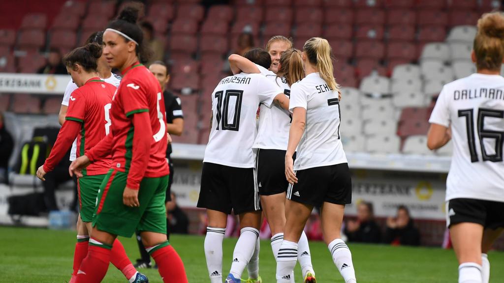 Die DFB-Frauen starteten mit einem Kantersieg in die WM-Qualifikation