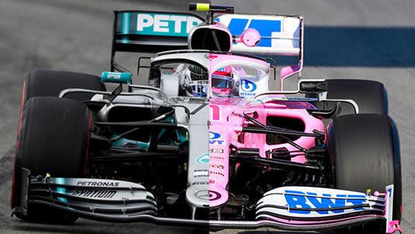 Der neue Racing Point RP20 basiert klar auf dem Mercedes W10 von 2019