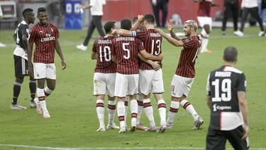 Der AC Mailand durfte vier Tore gegen Juventus bejubeln