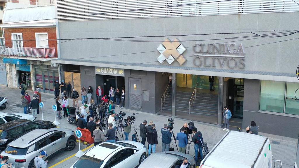 Großer Andrang vor dem Krankenhaus in Buenos Aires