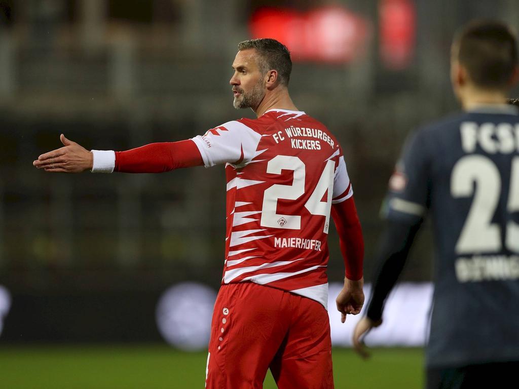 Stefan Maierhofer lief zum ersten Mal für die Würzburger Kickers auf