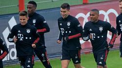 Vier Neuzugänge des FC Bayern (v.li.): Dantas, Sarr, Roca und Costa