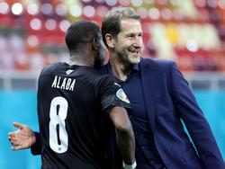 Taktik aufgegangen: David Alaba und Franco Foda