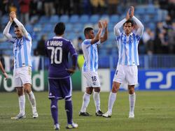 Die Spieler des FC Málaga bedanken sich beim eigenen Publikum