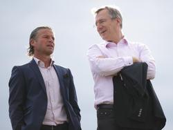 """Die zwei """"Big Players"""" beim SKN St. Pölten. Sportdirektor Frenkie Schinkels und Obmann und Vorstandsvorsitzender Gottfried Tröstl"""