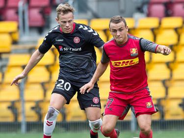 Gegen Nordsjælland durfte Marco Meilinger (links) auch schon einmal in einem Testspiel ran