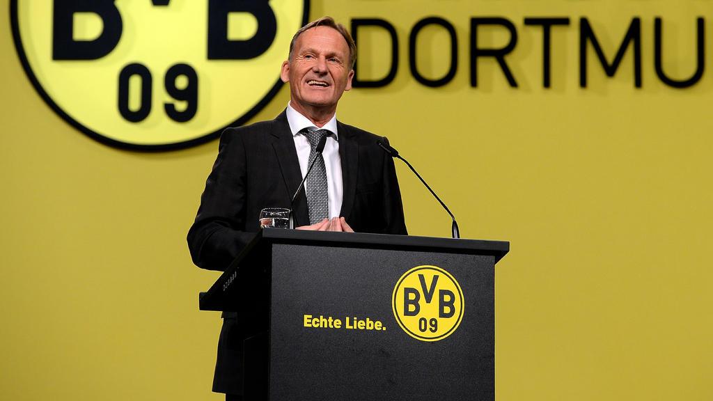 BVB-Boss Hans-Joachim Watzke hat zur Zeit gut lachen