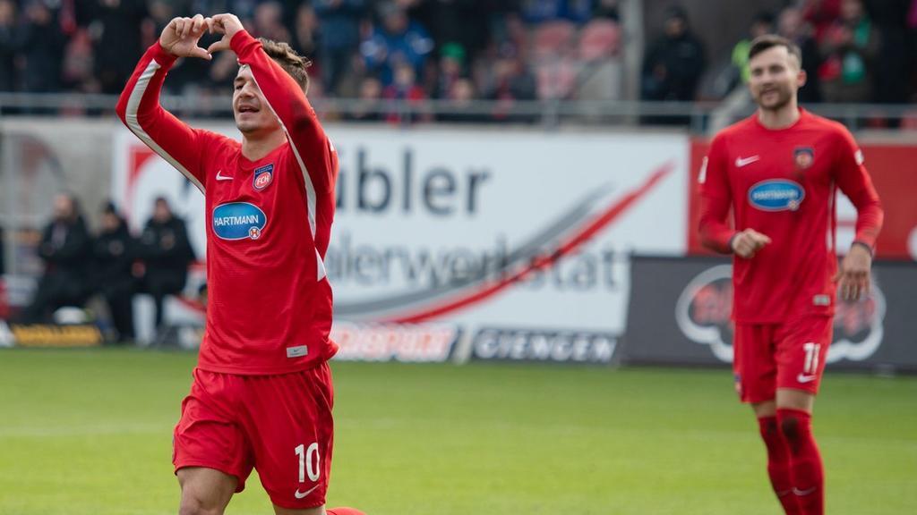 Nikola Dovedan schießt Heidenheim zum Sieg (Bildquelle: twitter.com/fch1846)