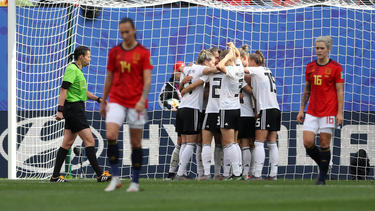 Alemania festeja su único gol del partido.