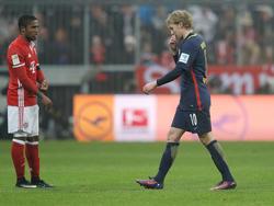 Emil Forsberg flog gegen den FC Bayern mit Rot vom Platz