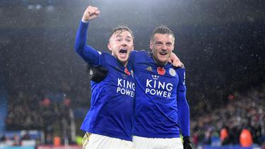 Maddison y Vardy, los goleadores de los 'Foxes'.