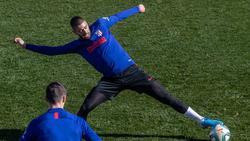 Carrasco nahm am Freitag bereits beim Training von Atlético Madrid mit