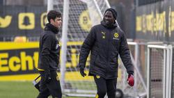 Otto Addo (r.) arbeitet seit 2019 als Talente-Coach beim BVB