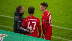 Leon Dajaku (r.) wird den FC Bayern wohl verlassen