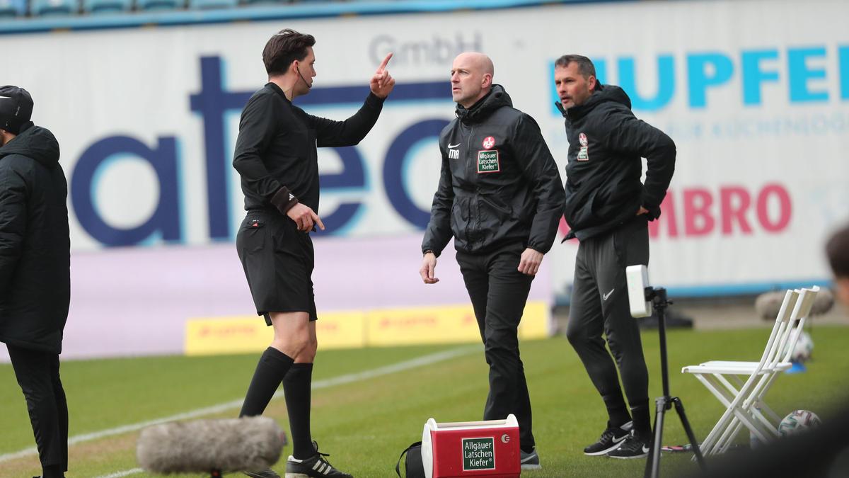 Marco Antwerpen sah in der Nachspielzeit die rote Karte