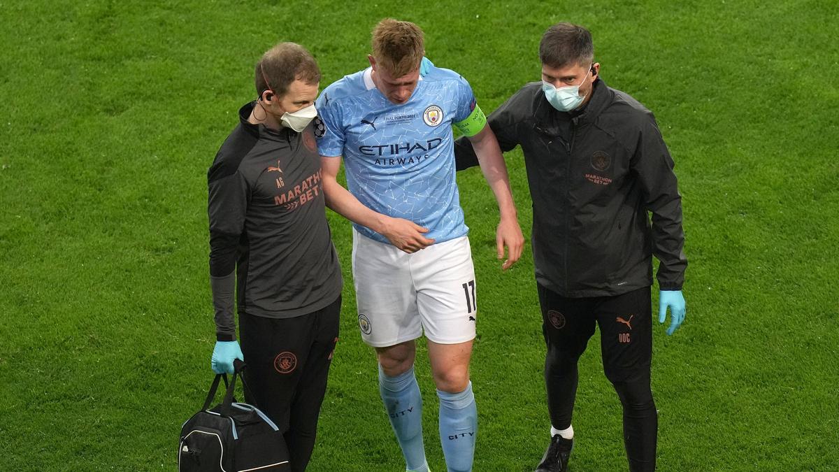 Kevin De Bruyne verletzte sich im Champions-League-Finale