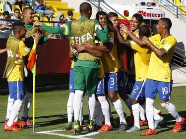 Brasil celebra un tanto en el Mundial de 2015. (Foto: Imago)