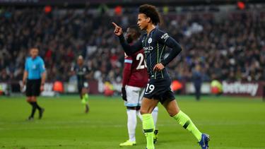 Leroy Sané erzielte zwei Treffer gegen West Ham United