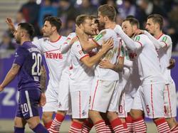 Jubel beim 1. FC Köln